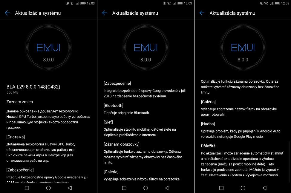 Aktualizácia pre Huawei Mate 10 Pro