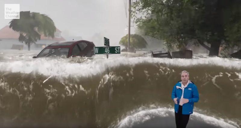 Animácia následkov hurikánu