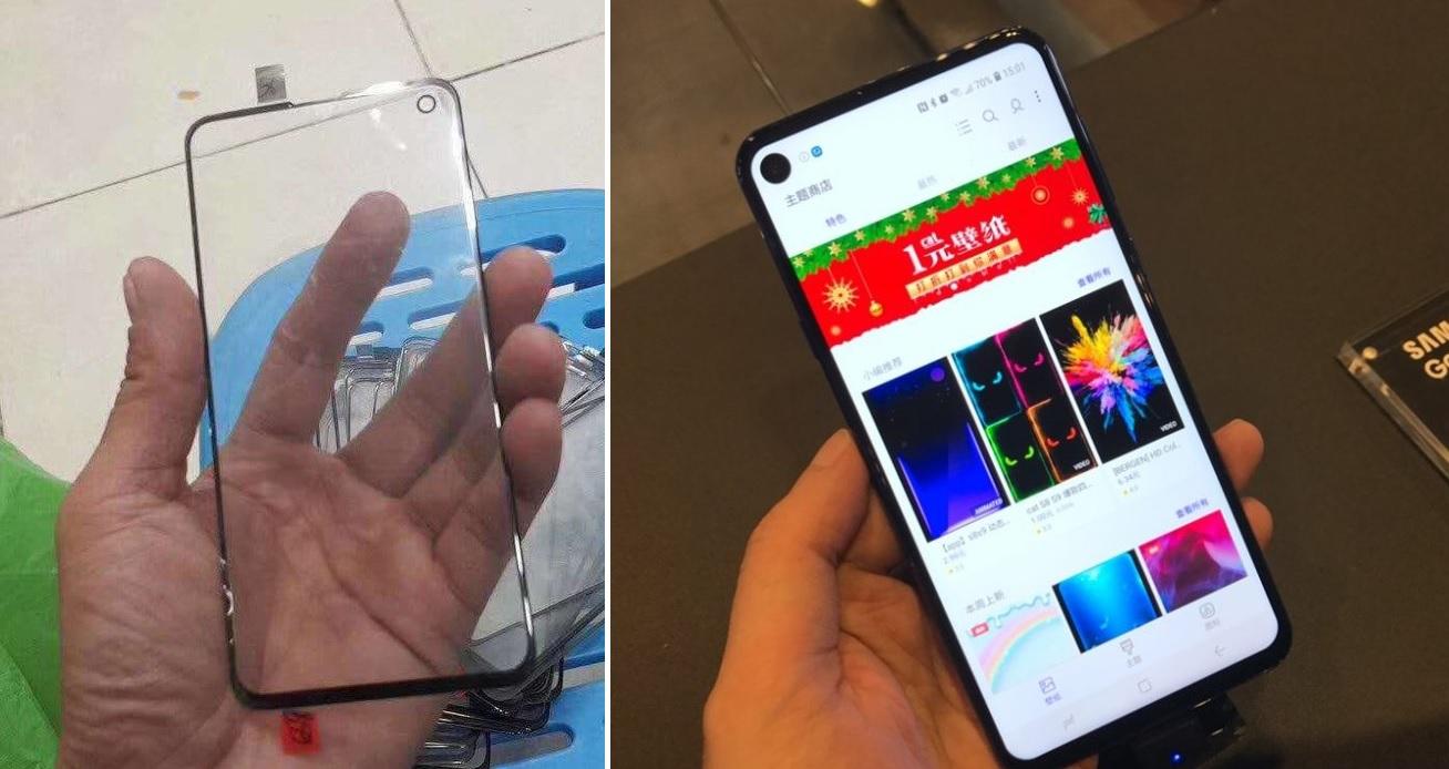 Vľavo je vraj ochranné sklo od Galaxy S10