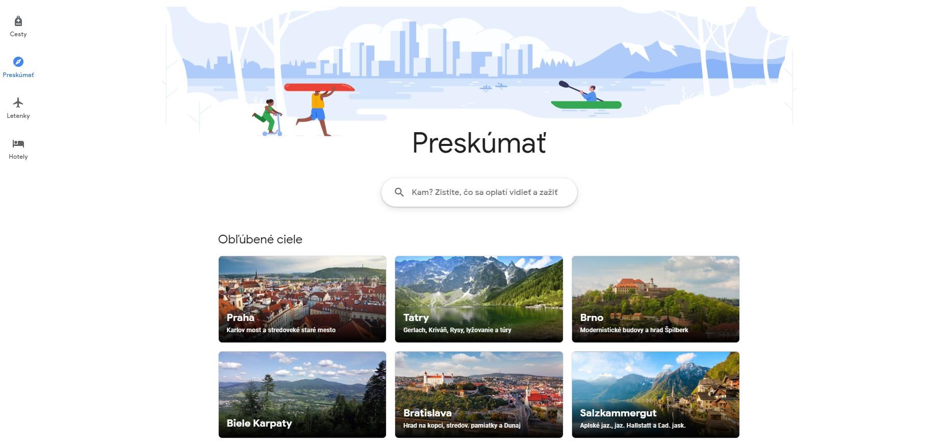 google cesty