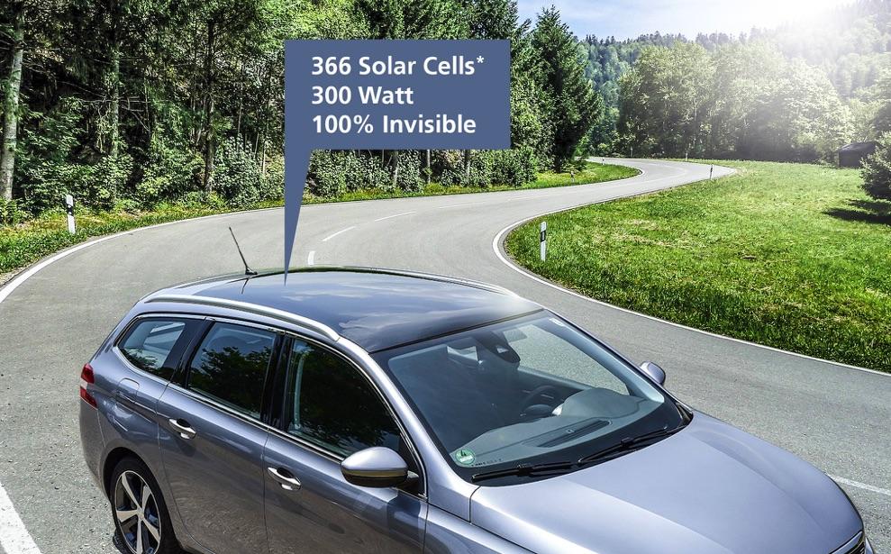 Solárny panel v streche elektromobilu