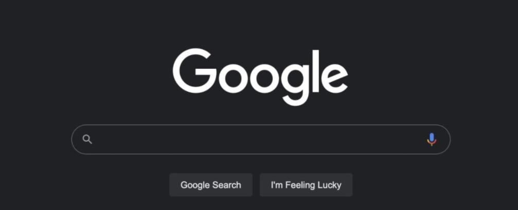Vyhľadávanie Google v tmavom režime