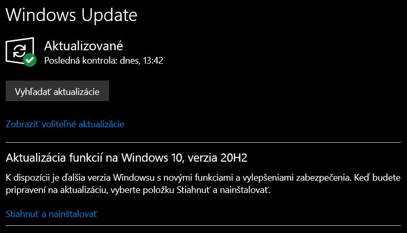 Microsoft Windows 10 aktualizácia