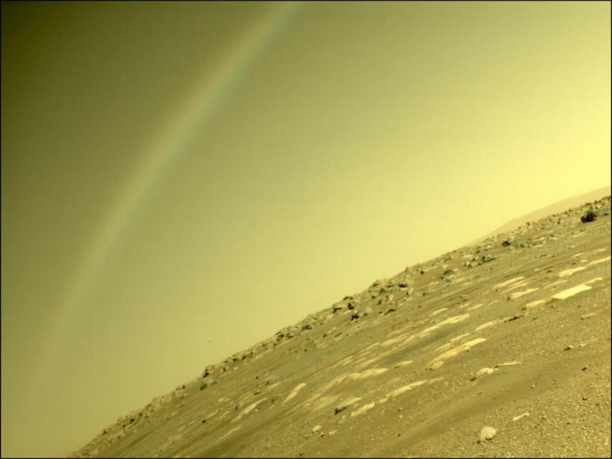 Dúha na Marse zachytený roverom Perseverance