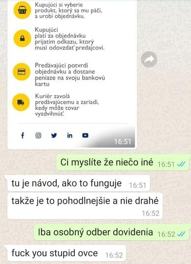 Konverzácia na WhatsApp
