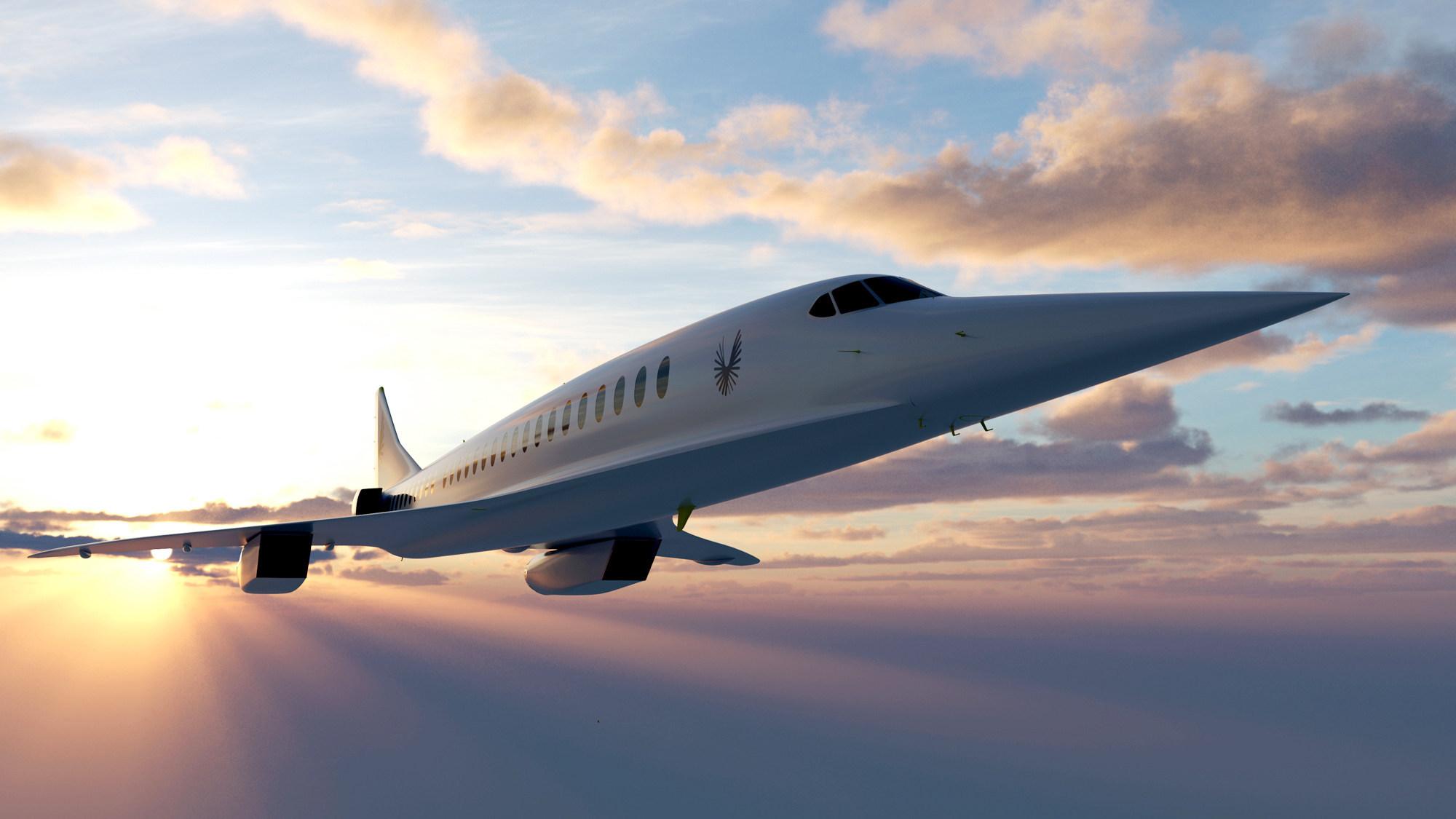 Nadzvukové lietadlo Boom Supersonic Overture.