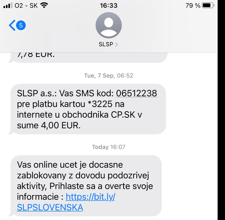Falošná SMS