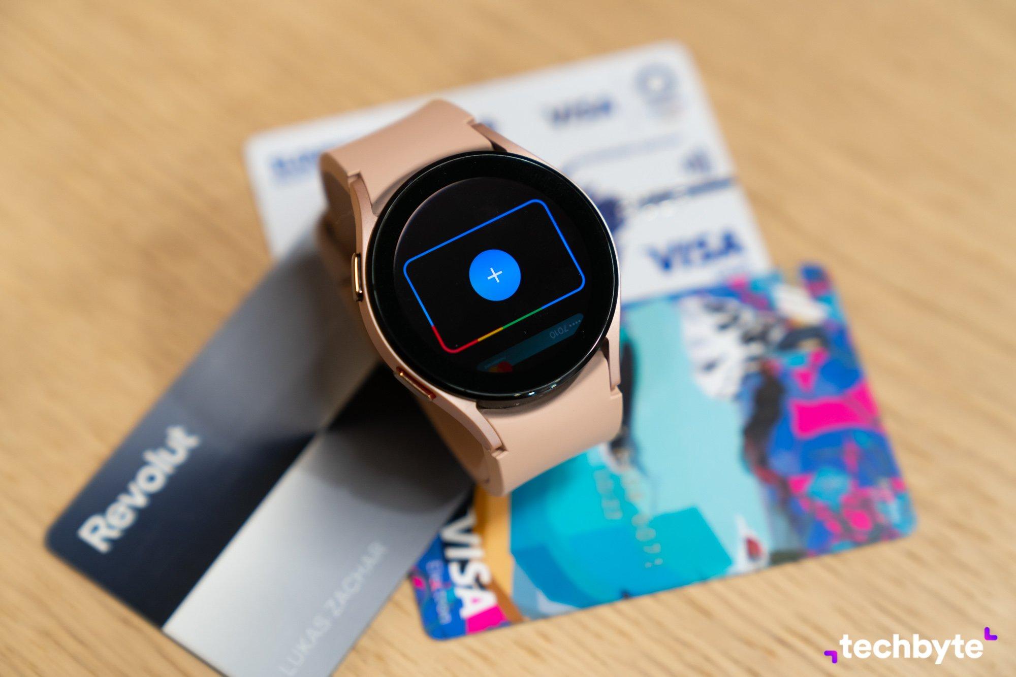 Google Pay na Galaxy Watch 4